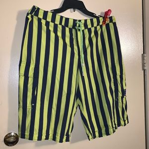 Burberry London men striped swim trunk/shorts